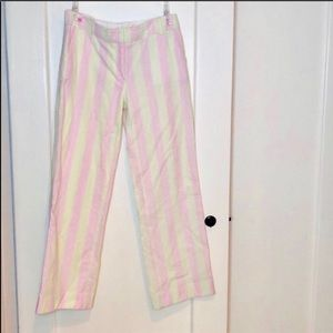 Lilly Pulitzer Pink and Green Seersucker Pants 8